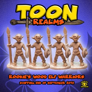 ROOKIE'S WOOD ELF SPEARMEN