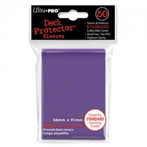 ULTRA PRO DECK PROTECTOR - SOLID PURPLE 50