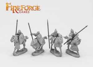 JUNIOR DRUZHINA LANCERS (4 MOUNTED RESIN FIGURES)