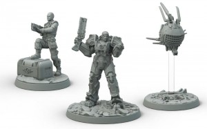 Fallout: Wasteland Warfare - Brotherhood of Steel Knight-Captain Cade and Paladin Danse