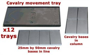 CAVALRY MOVEMENT TRAYS (X12)