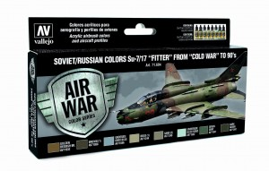 ZESTAW AIR WAR 8 FARB - SOVIET / RUSSIAN COLORS SU-7/17 FITTER FROM COLD WAR TO 80