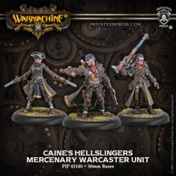 CAINE'S HELLSLINGERS—MERCENARY WARCASTER UNIT (METAL)