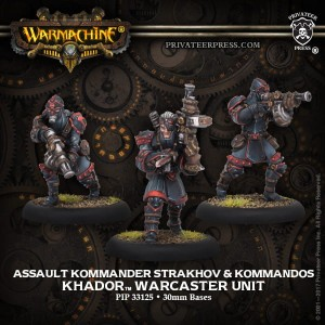 KHADOR ASSAULT KOMMANDER STRAKHOV AND KOMMANDOS (3) METAL