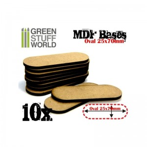 MDF OVAL BASE 25X70MM - PACK10 - BIKES