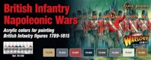 WARGAMES SET: BRITISH NAPOLEONIC PAINT SET (8)