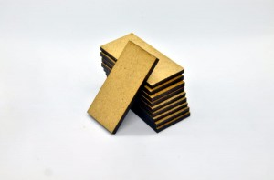 HDF BASES 25x50mm RECTANGLE (10 pieces)