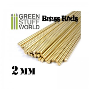 BRASS RODS 2MM PACKX5