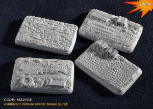 15mm 4 different vehicle scenic bases